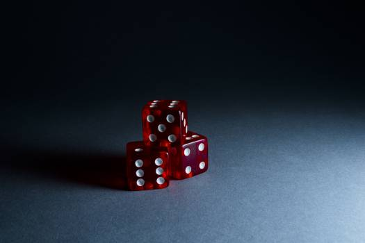 Three Red Dices Free Photo
