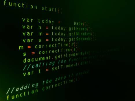 Computer Program Language Text Free Photo