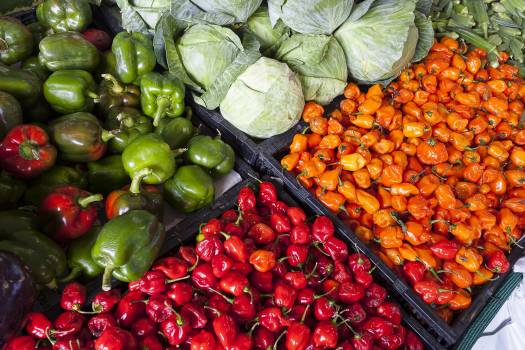 Assorted Vegetable Store Displays Free Photo