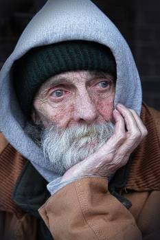 Man Wearing Brown and Gray Hoodie Jacket #334443