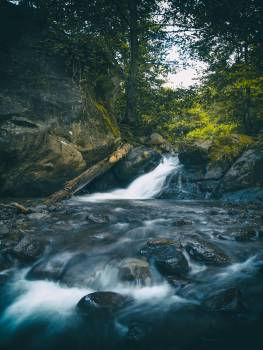Time Lapse Photography of Waterfall #334541