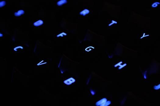 Close Up Shot of Black Computer Keyboard Free Photo