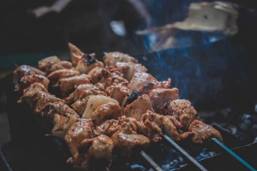 Meat Skewers Free Photo