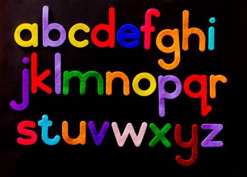 Alphabet Letter Text on Black Background #334863
