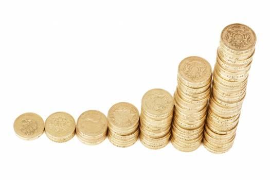 Gold Round Coins #335016