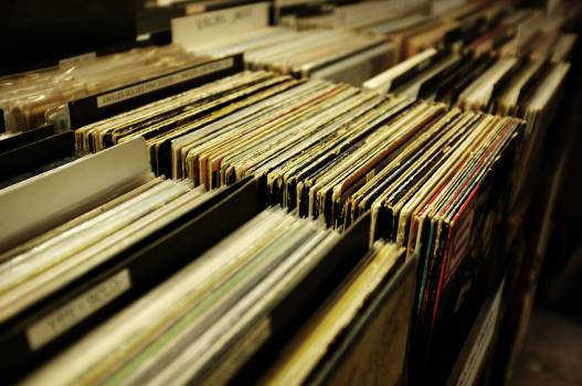 Vinyl Albums Stack in Boxes #33528