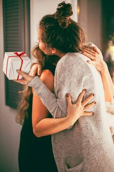 Two Woman Hugging Each Other Free Photo