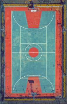 Top View Photo of Basketball Court Free Photo