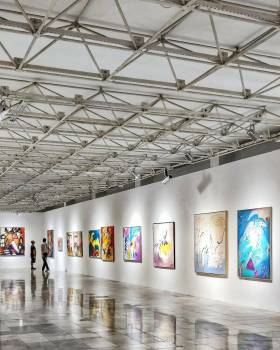 Colorful Arts Hanging on Wall Free Photo