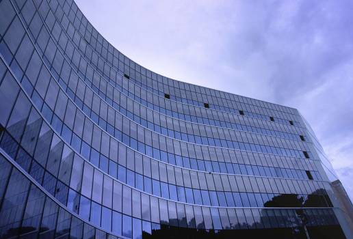 Fish Eye View Photo of Glass High Story Building over White Cloudy Sky during Daytime #33564