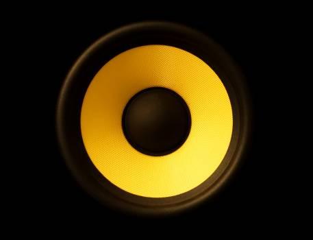 Black and Yellow Speaker #335728