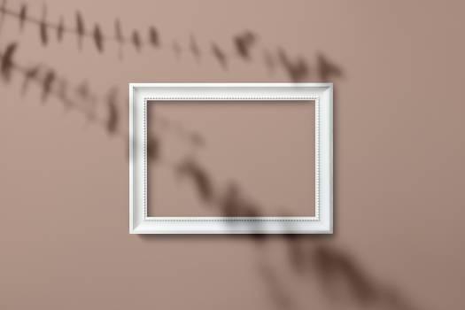 Rectangular White Wooden Frame #335838