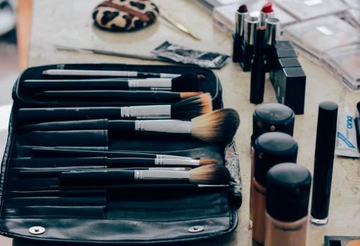 Pile of Black Makeup Brush Free Photo