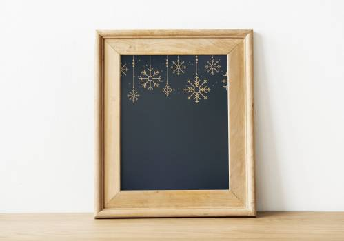 Brown Wooden Picture Frame Free Photo