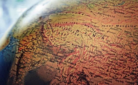 Brown World Map Illustration Free Photo