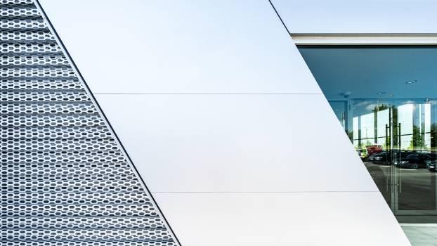 White Concrete Building Free Photo