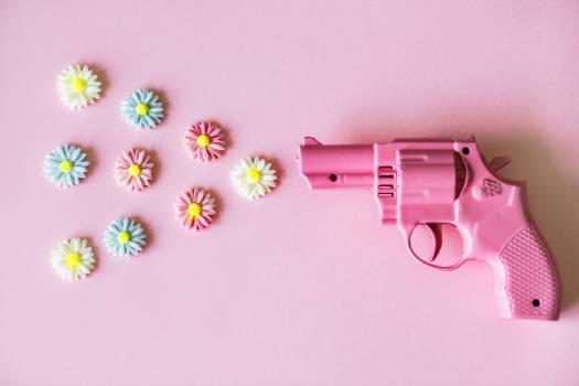 Pink Plastic Revolver Toy Free Photo