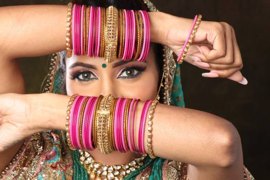 Woman Wearing Bangle Bracelets #336723