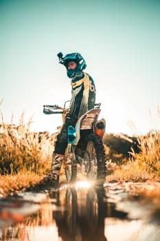 Man Riding Motorcycle Free Photo