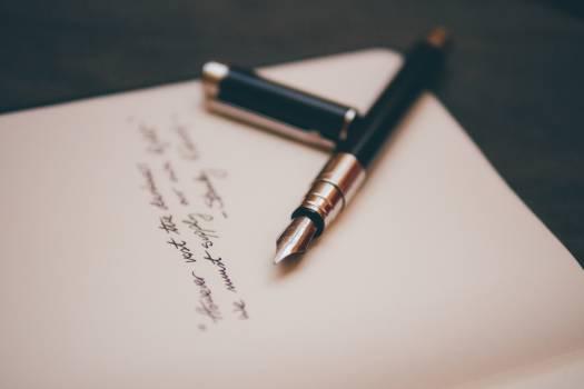 Black and Copper Pen #33715