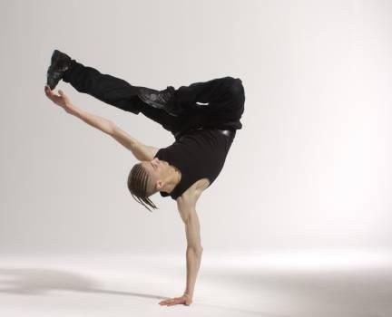 Man Break Dancing Free Photo
