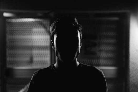 Black and white man shadow alone Free Photo