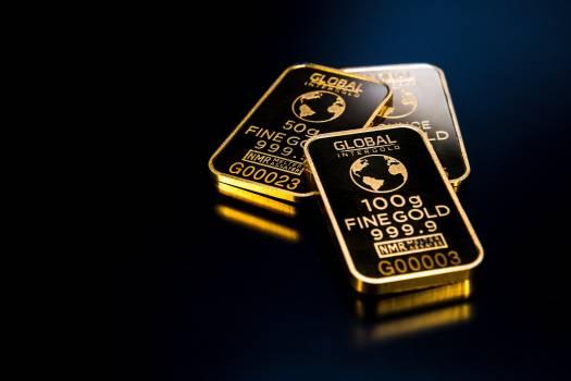 Three Gold Bars Free Photo