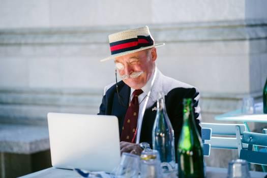 Man Using Laptop Free Photo