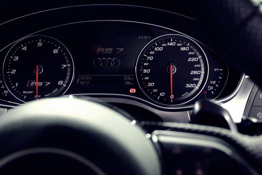 Person Showing Audi Rs 7 Speedometer #337960