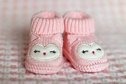 Close-up of Pink Baby Booties #338182
