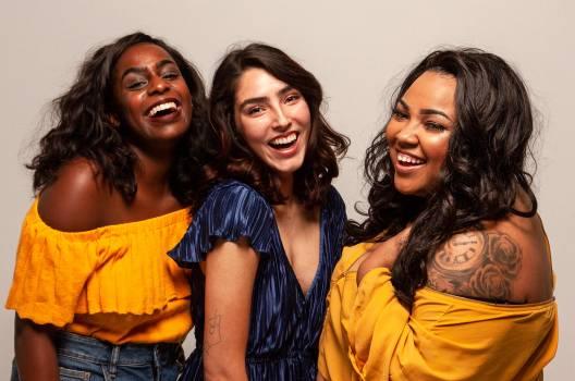 Three Women Smiling Free Photo