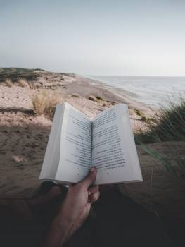 Photo of Person Reading Book On Beach #338591