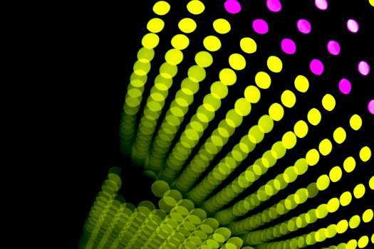 Green Light Bokeh Free Photo
