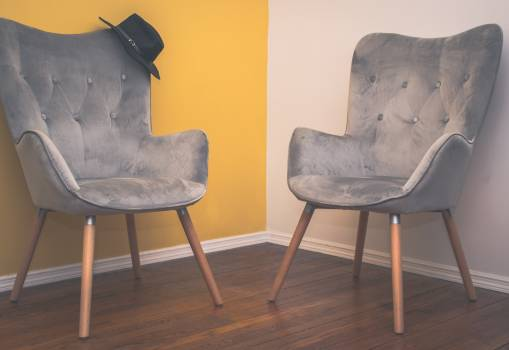Two Suede Armchairs Free Photo