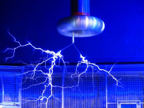 Blue Electric Sparks Free Photo