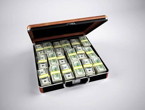 U.s. Dollar Bill on Brown Steel Case Free Photo