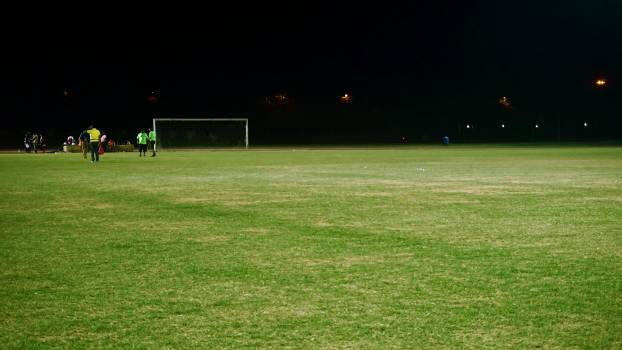 Group of People on Soccer Field #339239