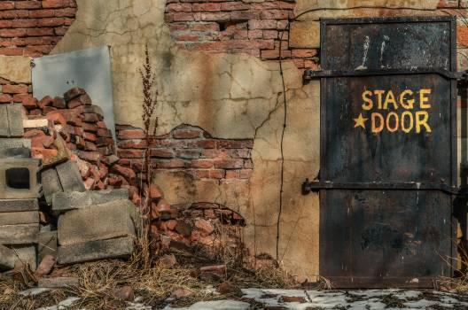 Photo of Abandoned Back Stage Door Free Photo