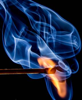Blue and Yellow Flame Painting Free Photo