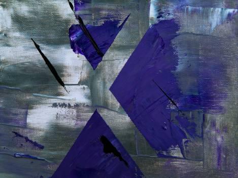 Blue and Grey Paint Brush Stroke Free Photo