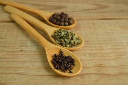 Vegetables and Beans on Brown Wooden Measuring Spoon #33948