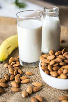 Photo of Milk Near Almonds #339610
