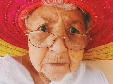An elderly woman Free Photo