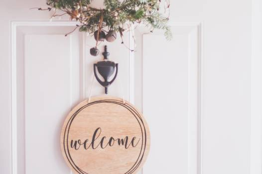 Brown Wooden Welcome Wall Decor #339673
