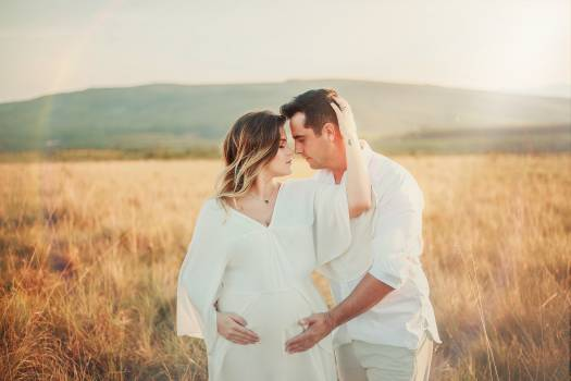 Couple in Field Free Photo