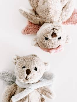 2 Grey Teddy Bears #339800