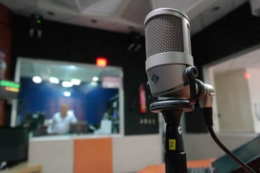 Grey Condenser Microphone Free Photo