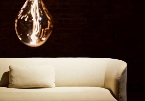 White Pillow on White Leather Sofa #340074