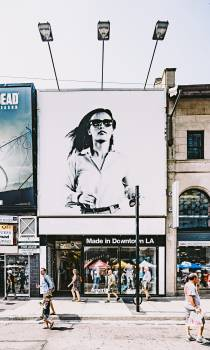 Photo of Billboard of Woman in Black and White #340169