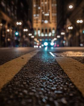 Gray and Brown Road during Nighttime Close-up Photography Free Photo